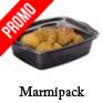 Barquette fond noir avec couvercle micro ondable marmipack