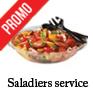 saladier jetable pour salade avec couvercle