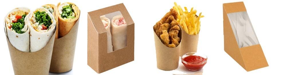 Boites carton Wrap & Sandwich