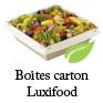 barquettes carton luxifood pour salades avec couvercle plastique RPET