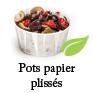 pots plissés papier biodegradable et ecologiques pour la sauce