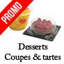 coupes dessert jetable et barquette pour part de tarte