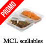 Barquettes alimentaires scellable micro ondable MCL 1 ou 2 compartiments