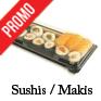 Barquettes plastique pour sushis makis a emporter traiteur vente a emporter