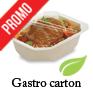 Gastronorme carton scellables