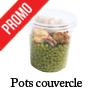 pot alimentaire jetable plastique couvercle pour traiteur